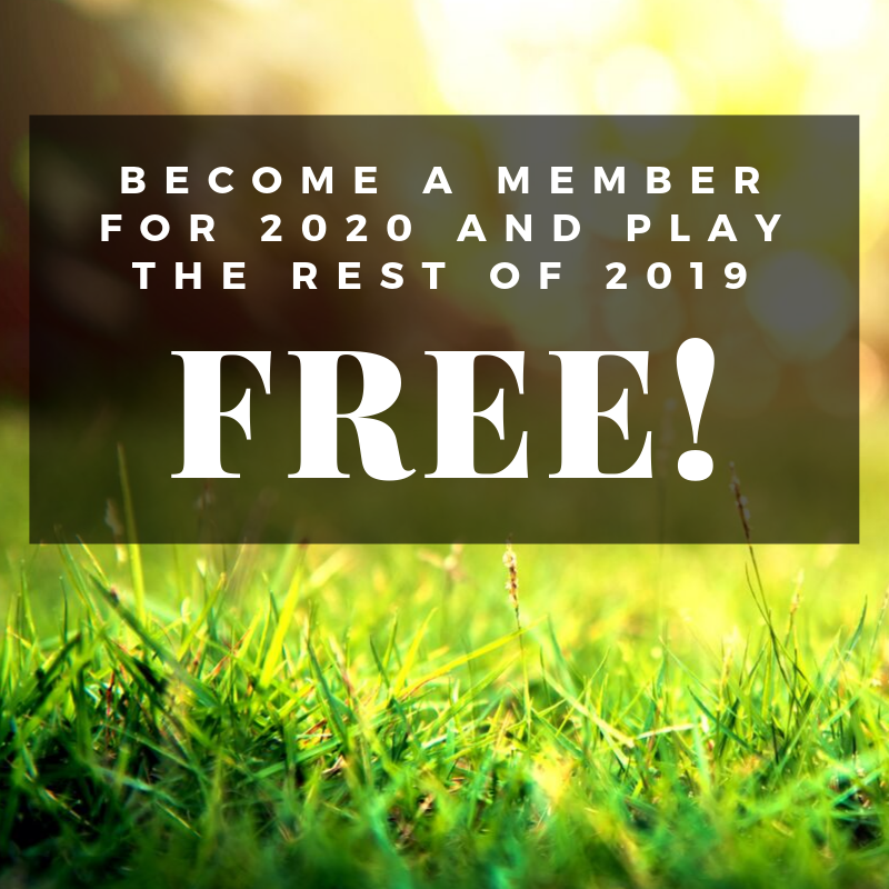 Golf the Rest of the 2019 Season for FREE! 🏌️🎉